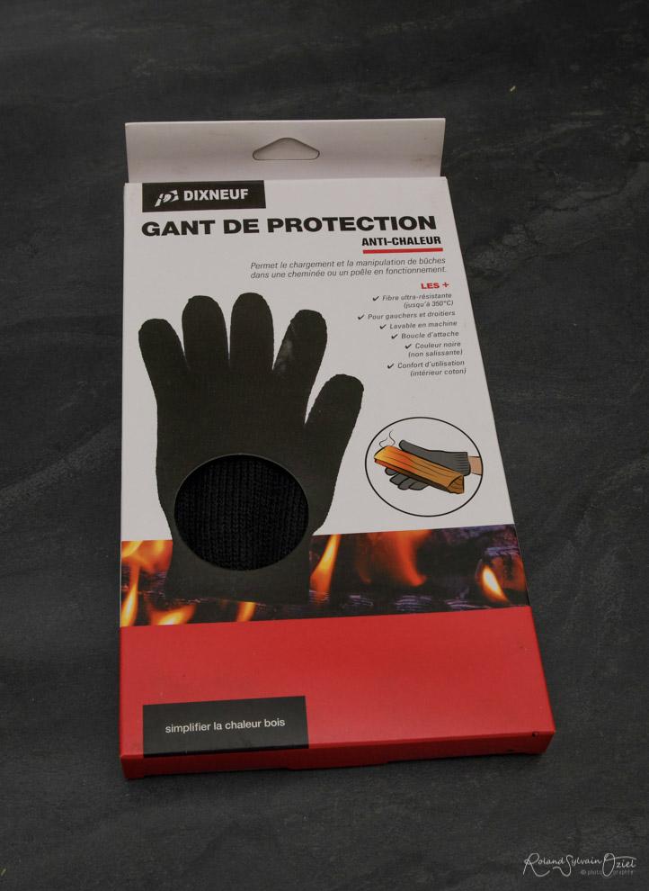 Gant anti-chaleeur cheminée ou poêle